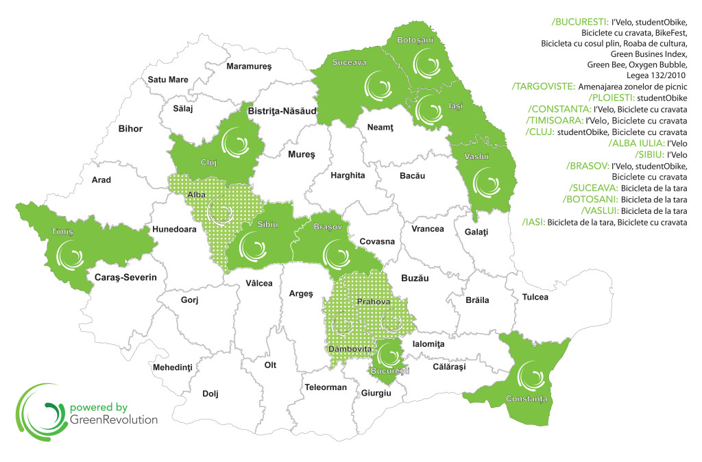 Map of Romania - projects 2014